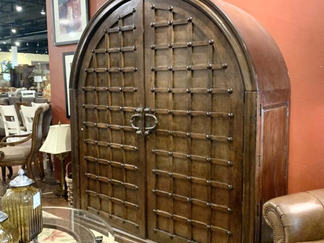 Curved Rustic Armoire