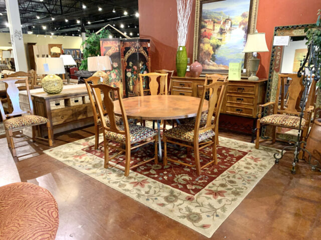 """Set of 8 """"Baker Furniture"""" Dining Chairs"""