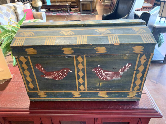 Rustic Painted Trunk