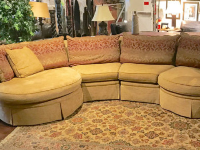 4 Piece Gold Sectional