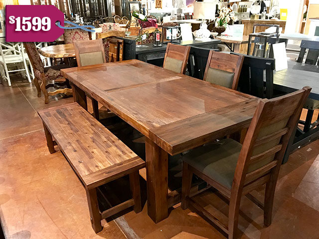 Alpine Pierre Table with 4 chairs and bench