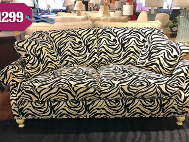 Sherrill Animal Print Sofa