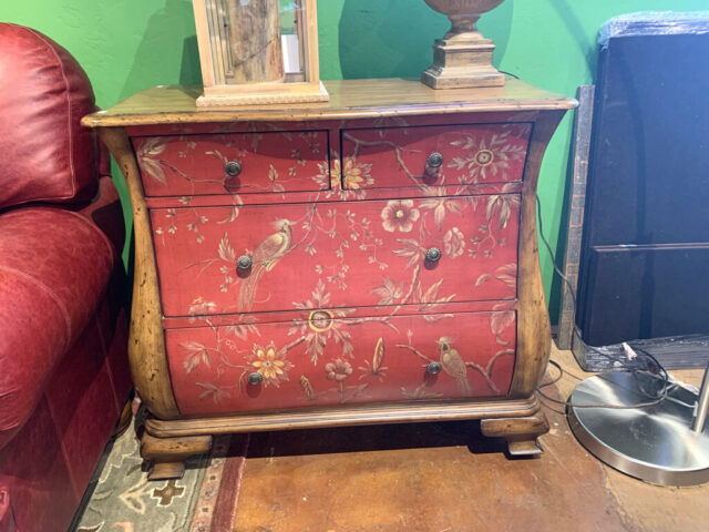 Bombay Red Painted Chest