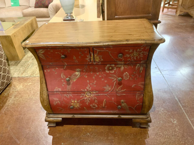 Bombay Style Red Painted Chest
