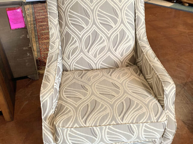 Cream and Grey Accent Chair