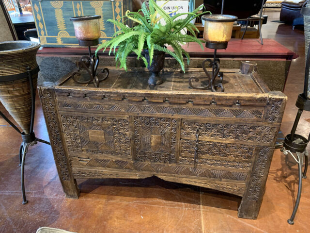 Rustic Carved Chest