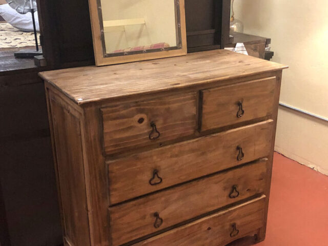 Tres Amigos 5 Drawer Rustic Dresser with Mirror