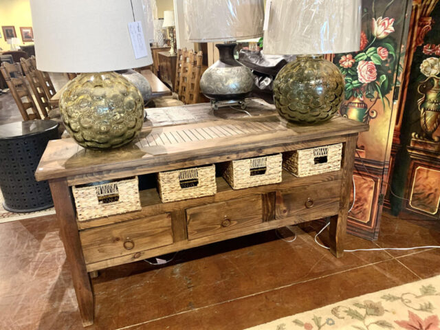 Rustic Console with Storage