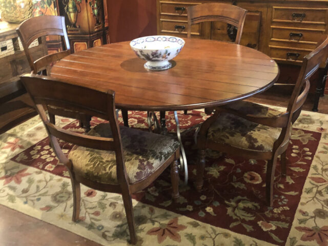 Harden Round Dining Table with 4 Chairs