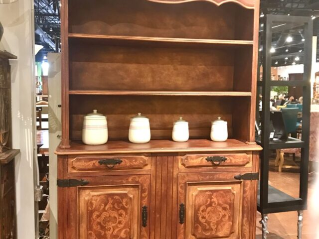Painted 2 Piece China Hutch