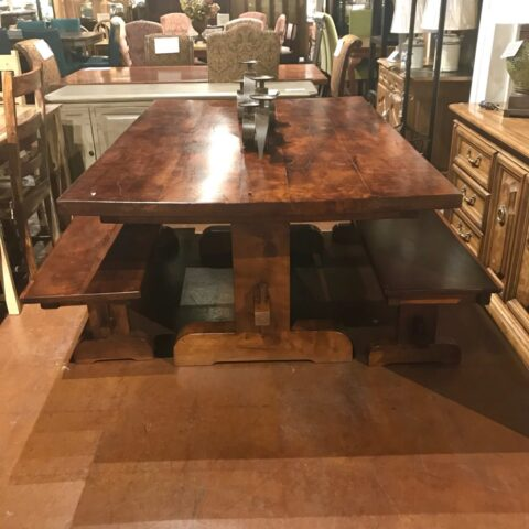 Mesquite Table with 2 Benches