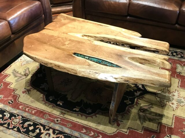 Mesquite with Turquoise Coffee Table