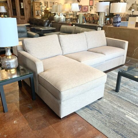 Crate & Barrel 2 Piece Grey Sofa