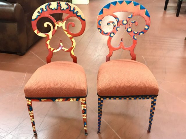 Pair of Painted Chairs