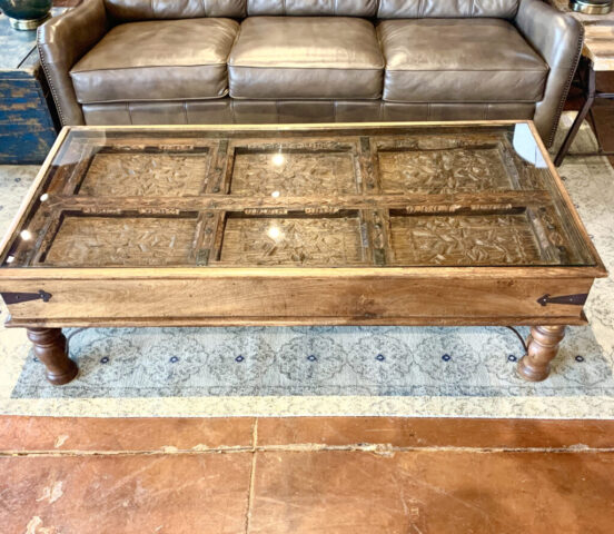 Antique Indian Door Coffee Table
