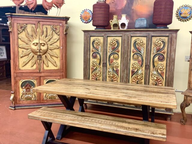Acacia Table with 3 Benches