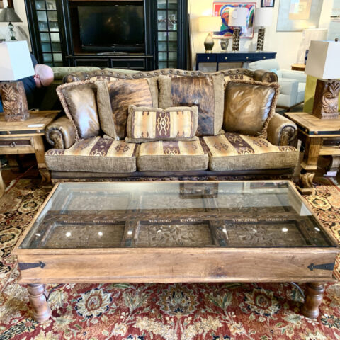 Shadow Mountain Sofa with Leather & Down