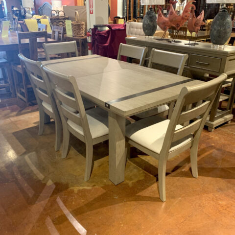 Ashley Grey Table with 6 Chairs
