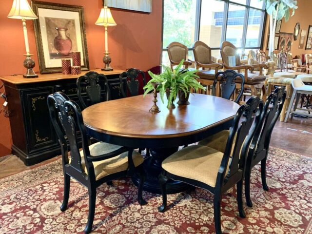 A.R.T. Table with 6 Chairs & Buffet