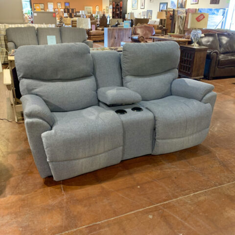 Blue La-Z-Boy Recliner Sofa