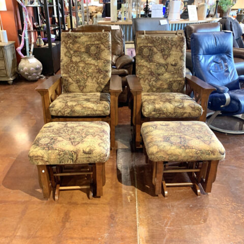 Glider Chairs with Ottoman