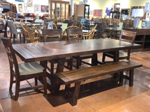 Sunny Designs Table with 4 Chairs & Bench